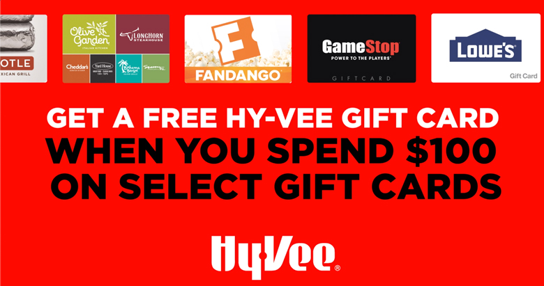 Receive a $10 Hy-vee Gift card